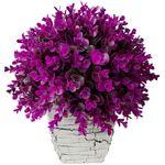گلدان سفالی به همراه گل مصنوعی بخشی مدل SH2030 thumb