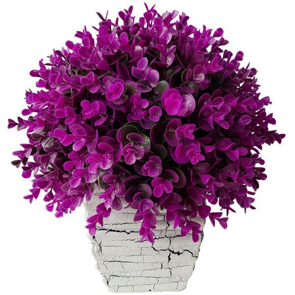 گلدان سفالی به همراه گل مصنوعی بخشی مدل SH2030