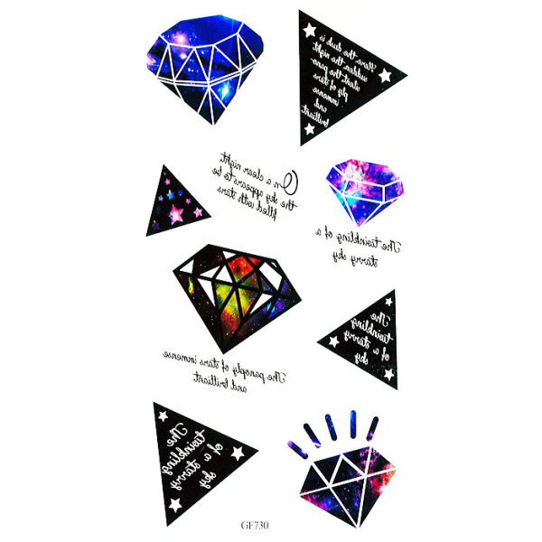 تتو موقت طرح الماس و نوشته مدل 730