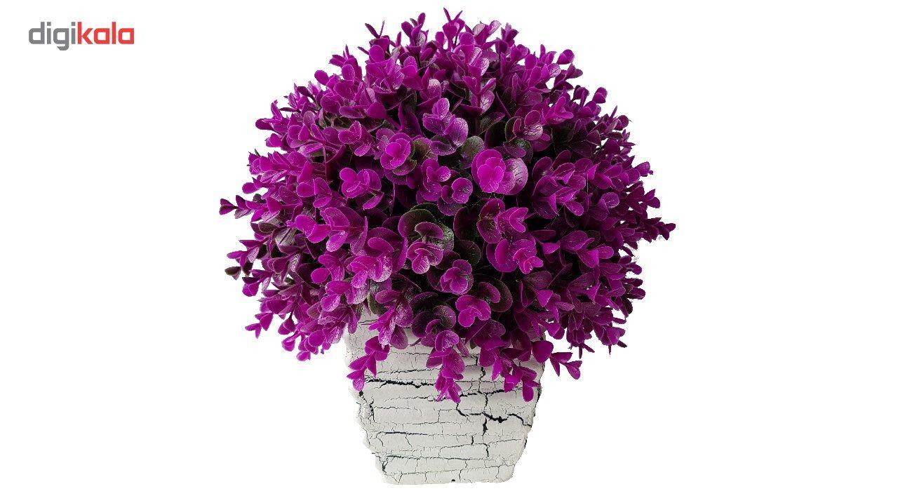 گلدان سفالی به همراه گل مصنوعی بخشی مدل SH2030 main 1 2