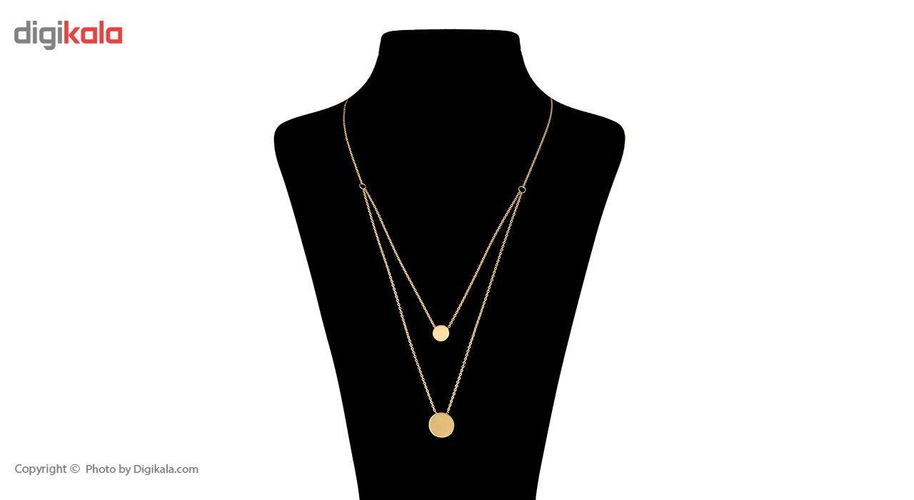 گردنبند طلا 18 عیار ماهک مدل MM0396 -  - 1