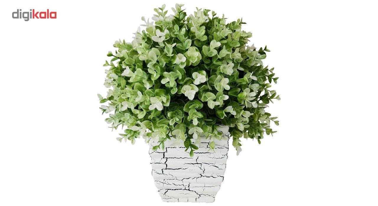 گلدان سفالی به همراه گل مصنوعی بخشی مدل SH2030 main 1 3