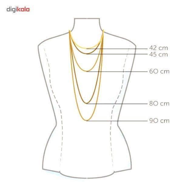 گردنبند طلا 18 عیار ماهک مدل MM0396 -  - 5