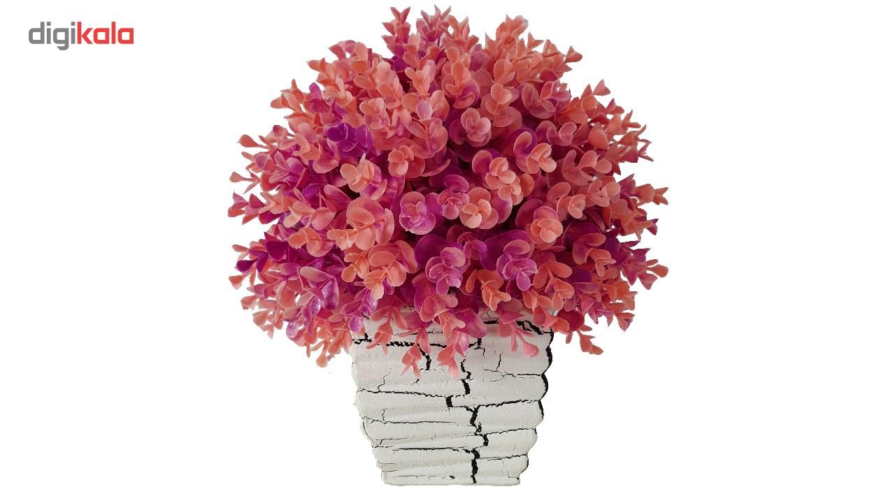 گلدان سفالی به همراه گل مصنوعی بخشی مدل SH2030 main 1 5