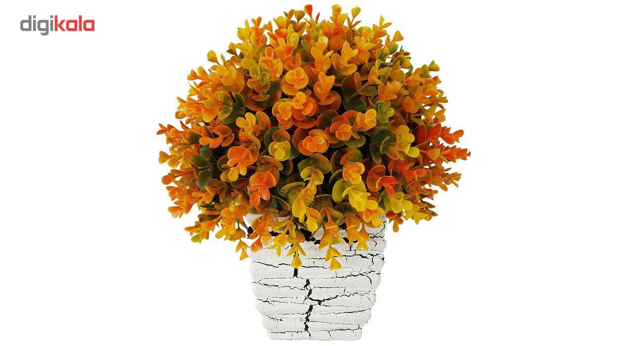 گلدان سفالی به همراه گل مصنوعی بخشی مدل SH2030 main 1 7