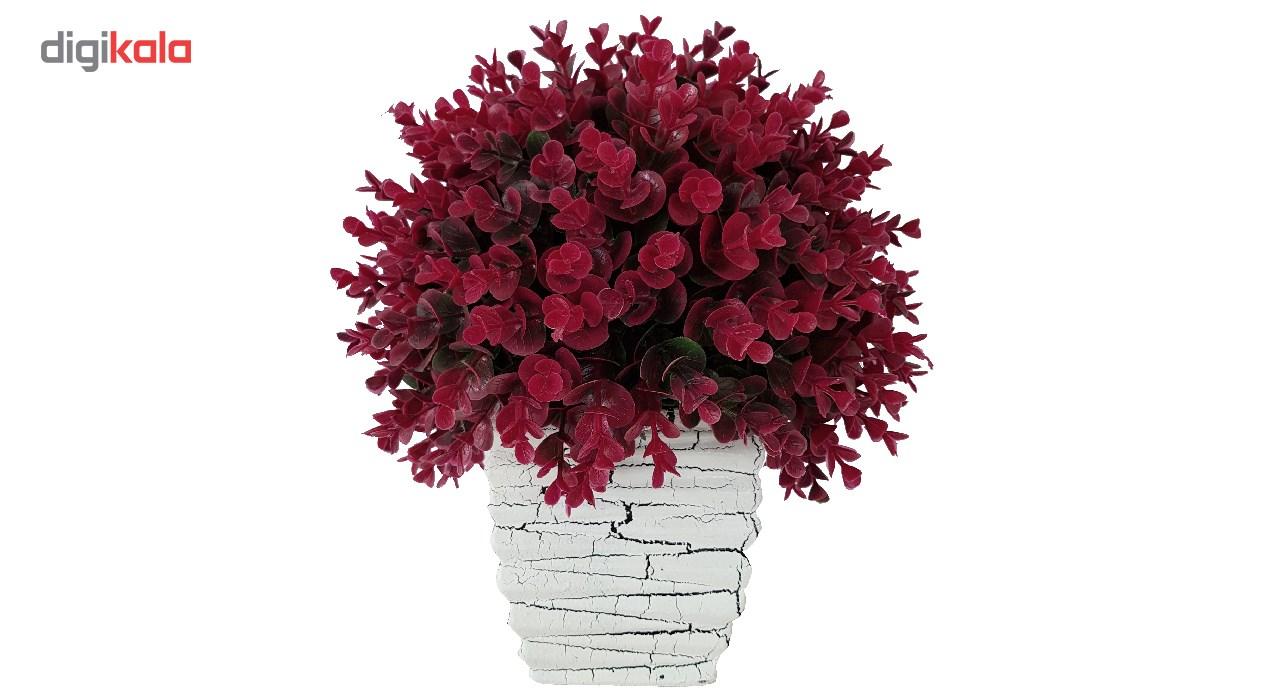 گلدان سفالی به همراه گل مصنوعی بخشی مدل SH2030 main 1 8