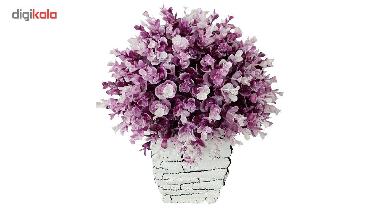 گلدان سفالی به همراه گل مصنوعی بخشی مدل SH2030 main 1 9