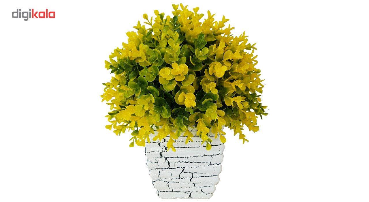 گلدان سفالی به همراه گل مصنوعی بخشی مدل SH2030 main 1 10