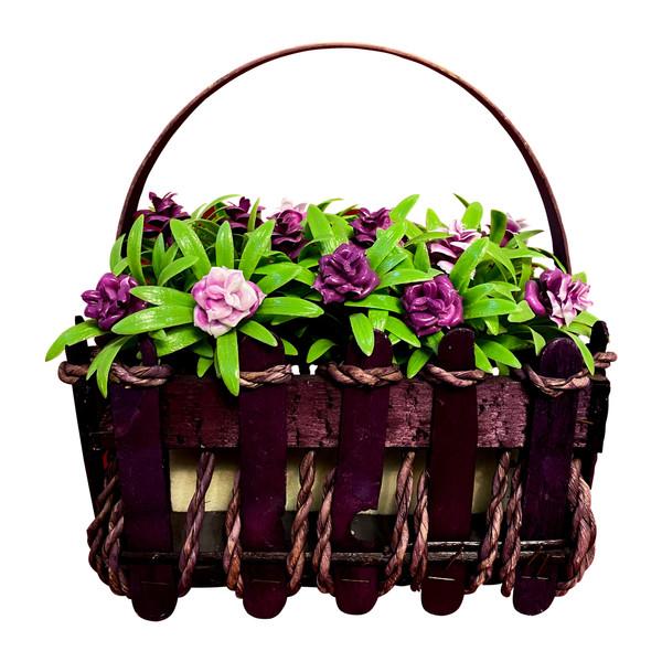 گلدان به همراه گل مصنوعی مدل شکوفه