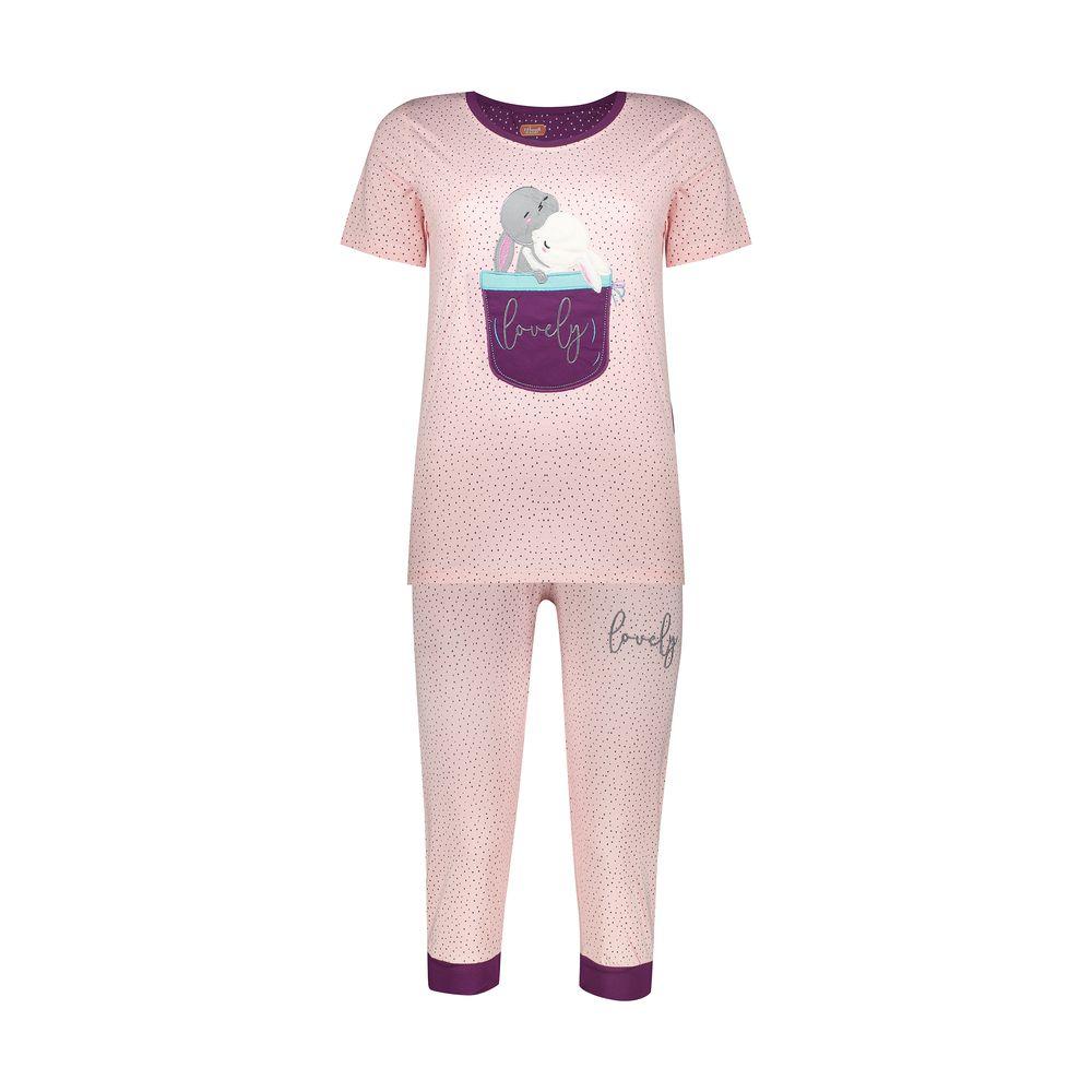 ست تی شرت و شلوارک راحتی زنانه مادر مدل 2041102-84