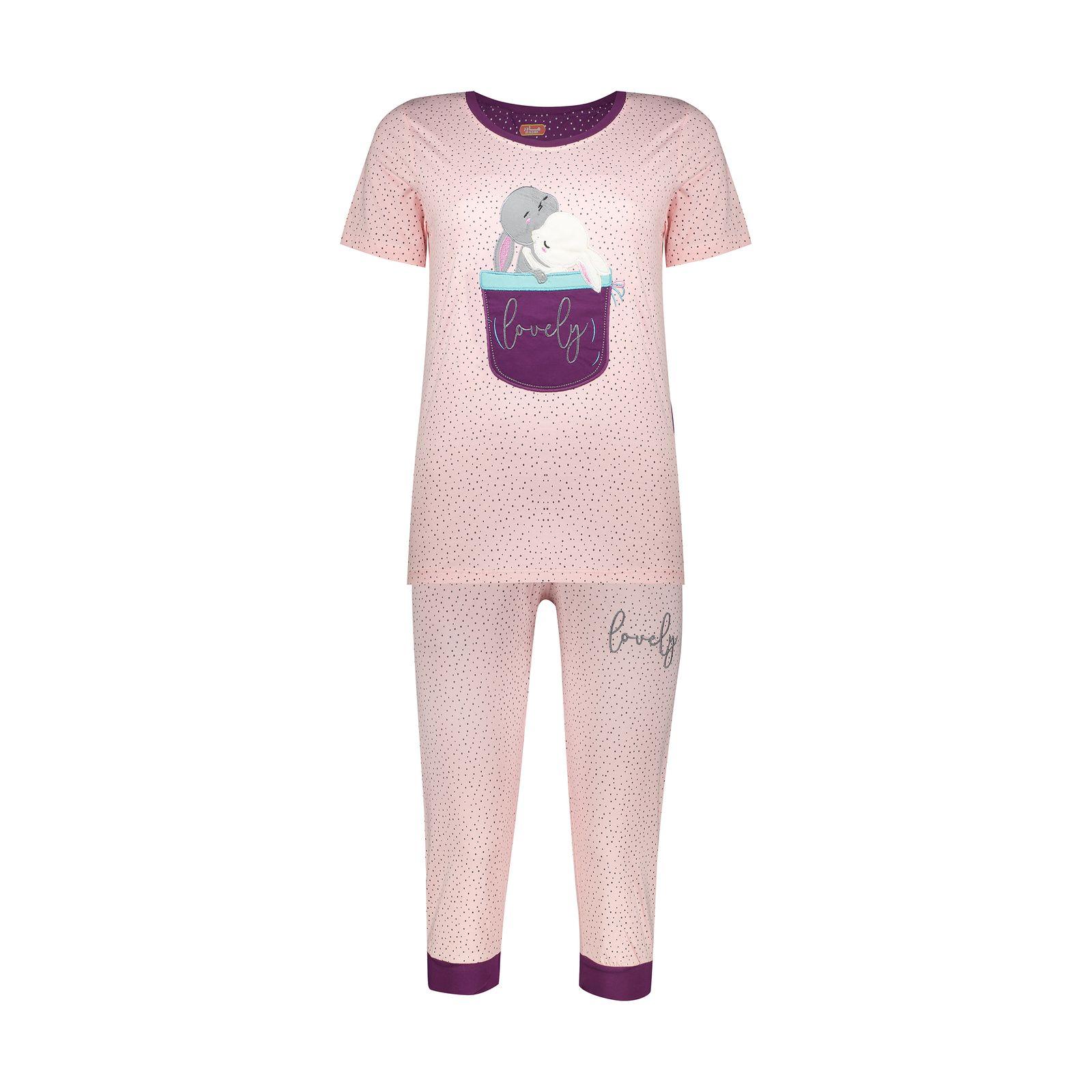 ست تی شرت و شلوارک راحتی زنانه مادر مدل 2041102-84 -  - 2