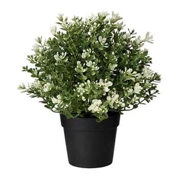 گلدان به همراه گل مصنوعی ایکیا مدل FEJKA-16840