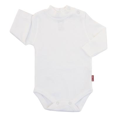 بادی آستین بلند نوزادی آدمک کد 17020 رنگ سفید