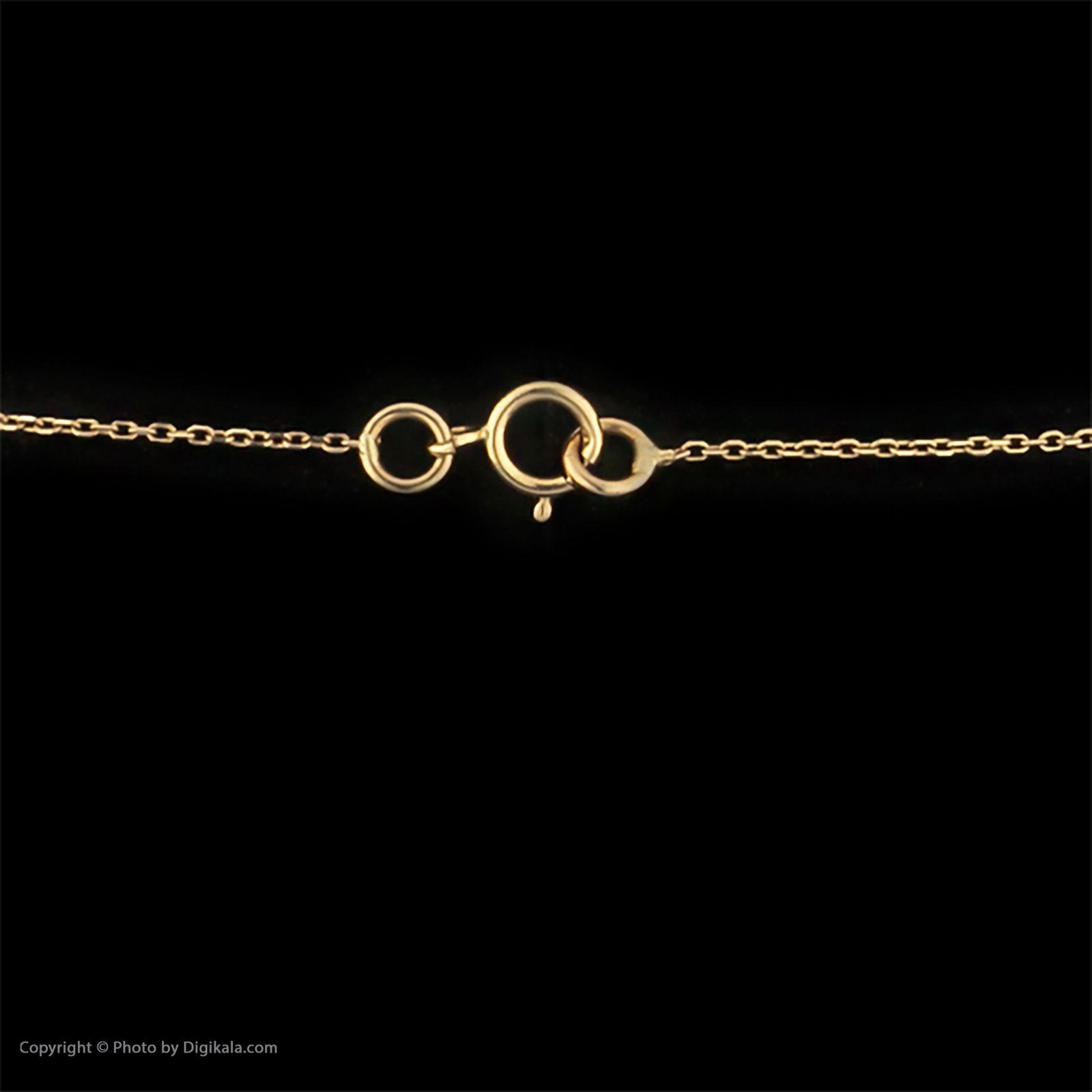 گردنبند طلا 18 عیار زنانه سنجاق مدل X082154 -  - 5
