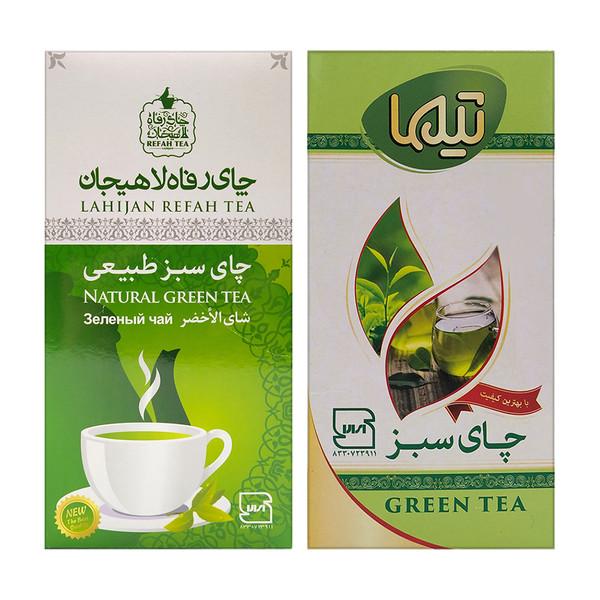 چای سبز رفاه لاهیجان - 210 گرم و چای سبز تیما لاهیجان - 210 گرم
