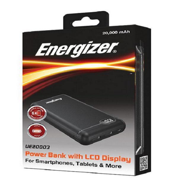 شارژر همراه انرجایزر مدل UE20003 ظرفیت 20000 میلی آمپر ساعت