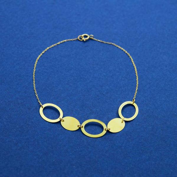 دستبند طلا 18 عیار زنانه کانیار گالری مدل B39