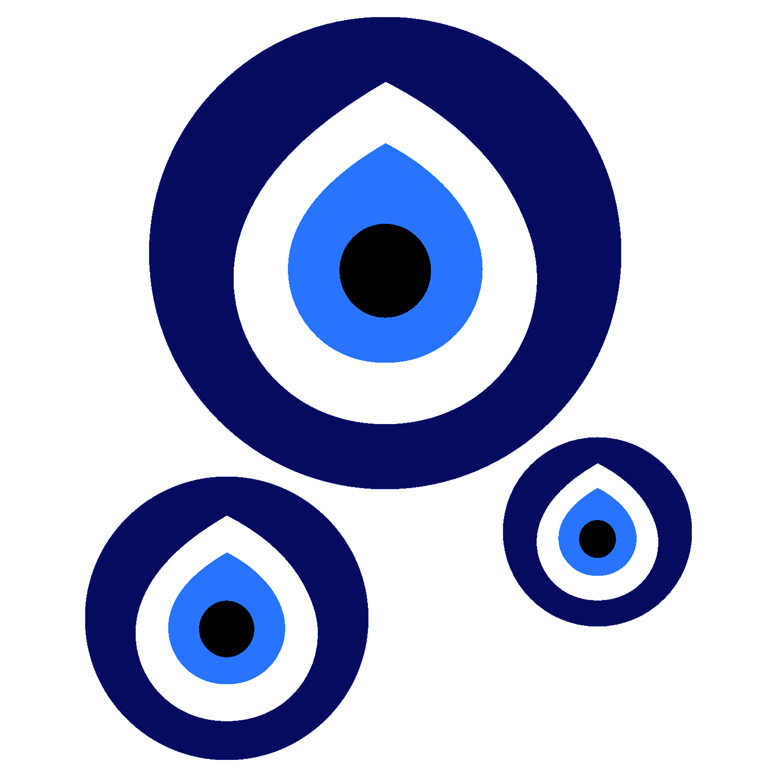 استیکر فراگراف FG طرح چشم زخم کد 1332 مجموعه 3 عددی
