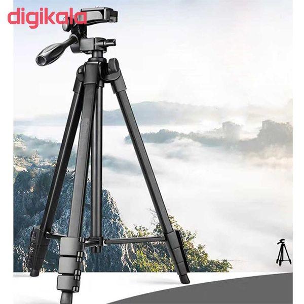 سه پایه دوربین نست مدل NT-510 به همراه گیره نگهدارنده موبایل main 1 11