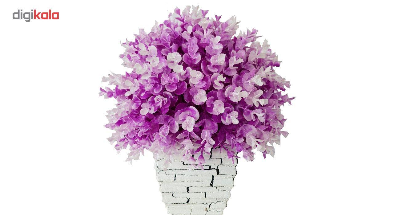 گلدان سفالی به همراه گل مصنوعی بخشی مدل SH2030 main 1 12