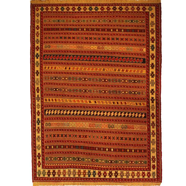 قالیچه گلیم دستبافت ورنی دو و نیم متری کد 110