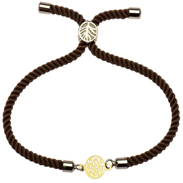 دستبند طلا 18 عیار دخترانه کرابو طرح دایره مدل Krd1153