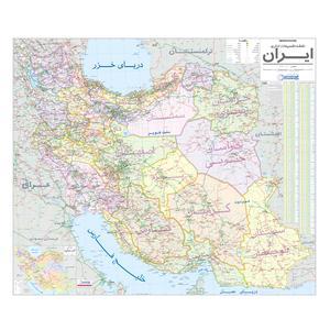 نقشه تقسیمات اداری ایران گیتاشناسی نوین کد 1390