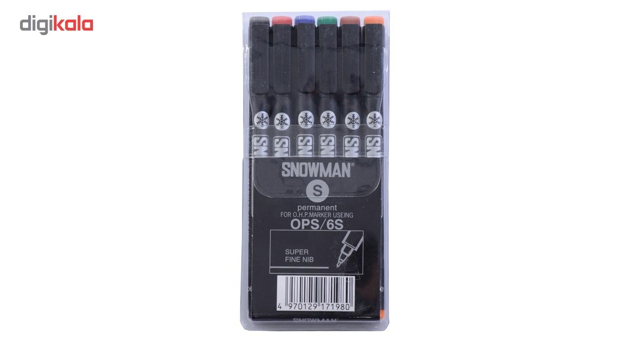 ماژیک سی دی اسنومن مدل OPS بسته 6 عددی