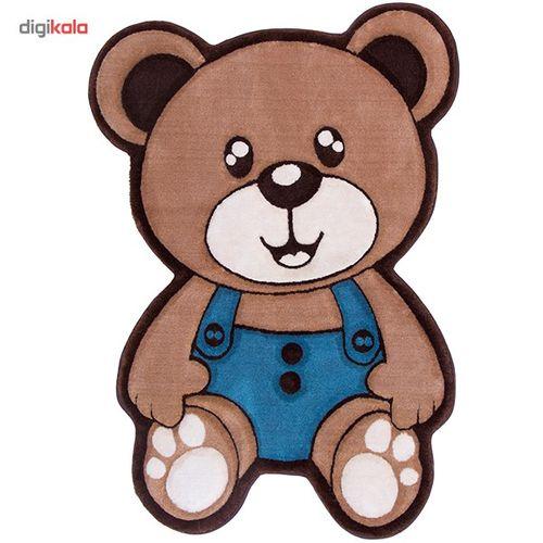 فرش تزیینی زرباف مدل خرس پسر سایز 100×75