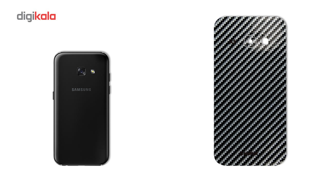 برچسب پوششی ماهوت مدل Shine-carbon Special مناسب برای گوشی  Samsung A3 2017 thumb 2 1