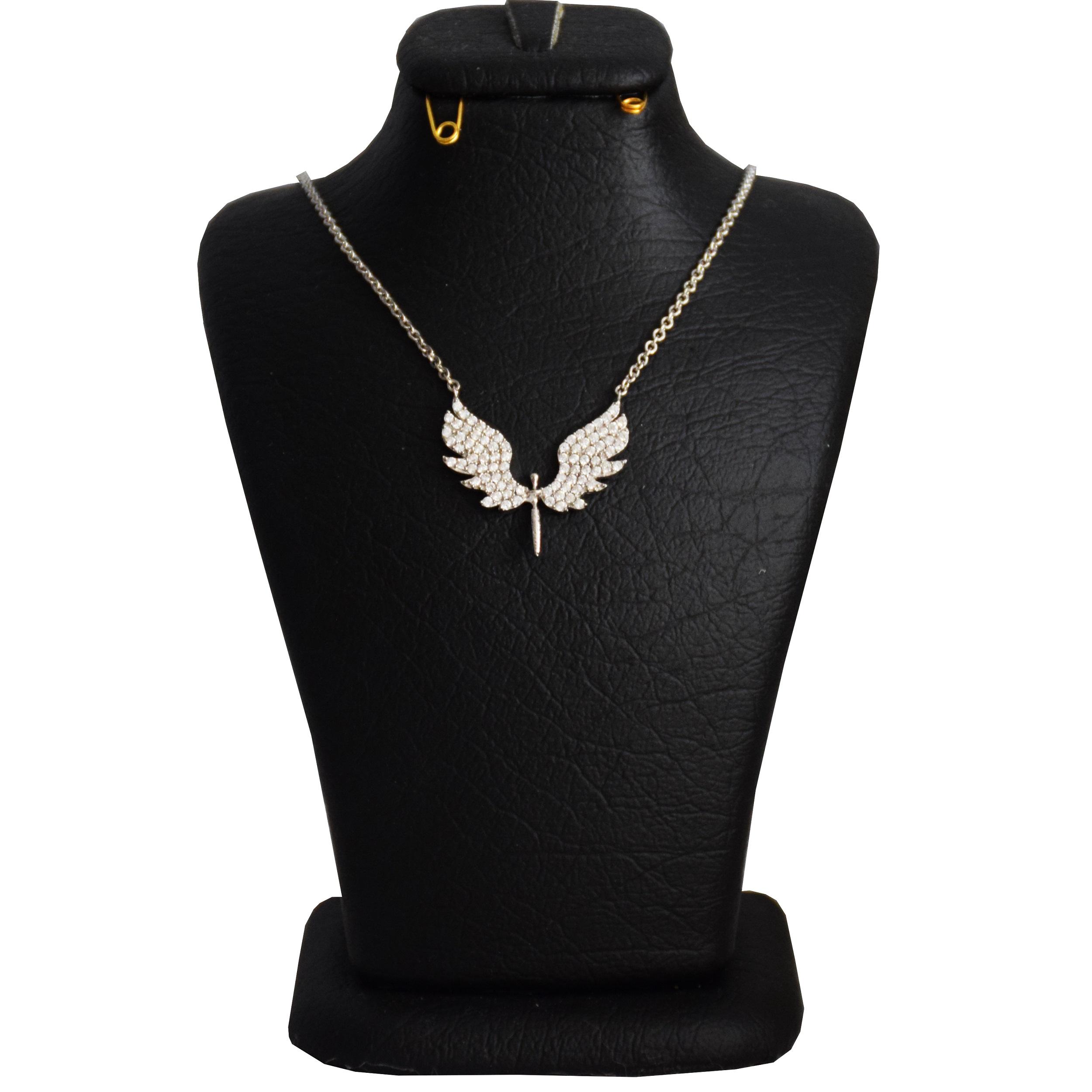 گردنبند نقره زنانه طرح فرشته کد N 031