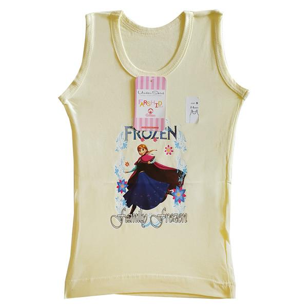 تاپ دخترانه فرشید طرح FROZEN کد 30539-JUM رنگ لیمویی
