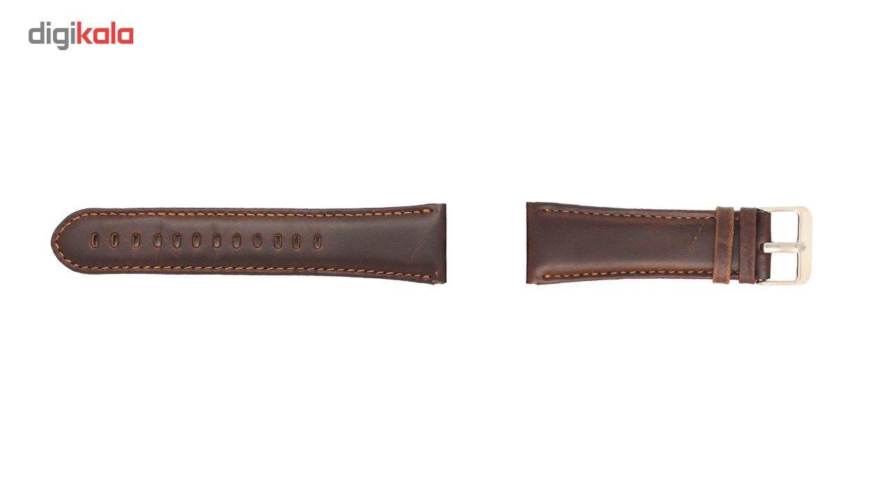 بند چرمی ساعت هوشمند مدل Leather Band مناسب برای Gear S3 main 1 2
