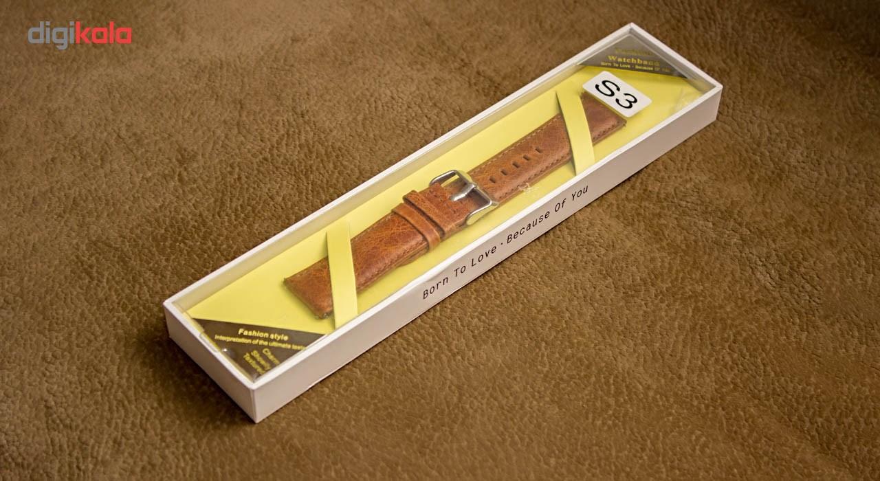 بند چرمی ساعت هوشمند مدل Leather Band مناسب برای Gear S3 main 1 3