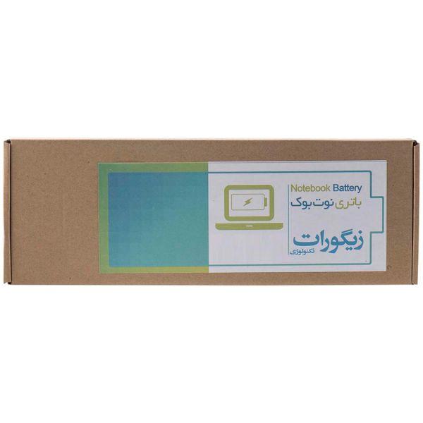 باتری لپ تاپ 6 سلولی زیگورات برای لپ تاپ دل XPS 1530