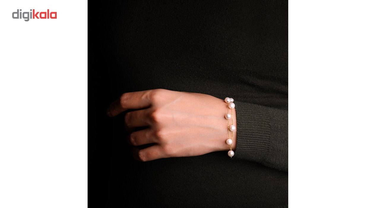 دستبند طلا 18 عیار گرامی گالری مدل B241 -  - 5