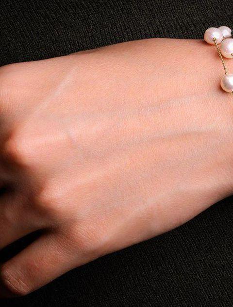 دستبند طلا 18 عیار گرامی گالری مدل B241 -  - 6