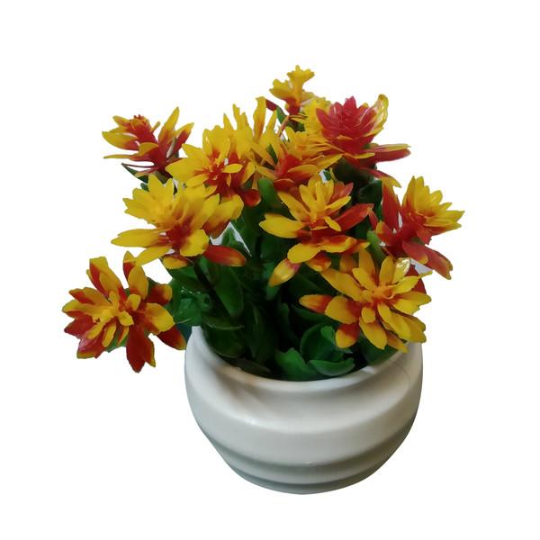 گلدان به همراه گل مصنوعی مدل GSS