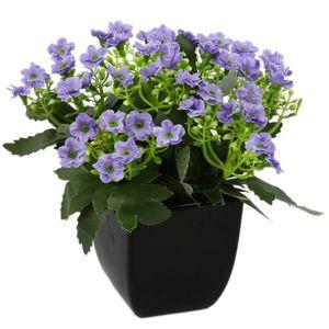 گلدان به همراه گل مصنوعی هومز طرح مینا مدل 42045