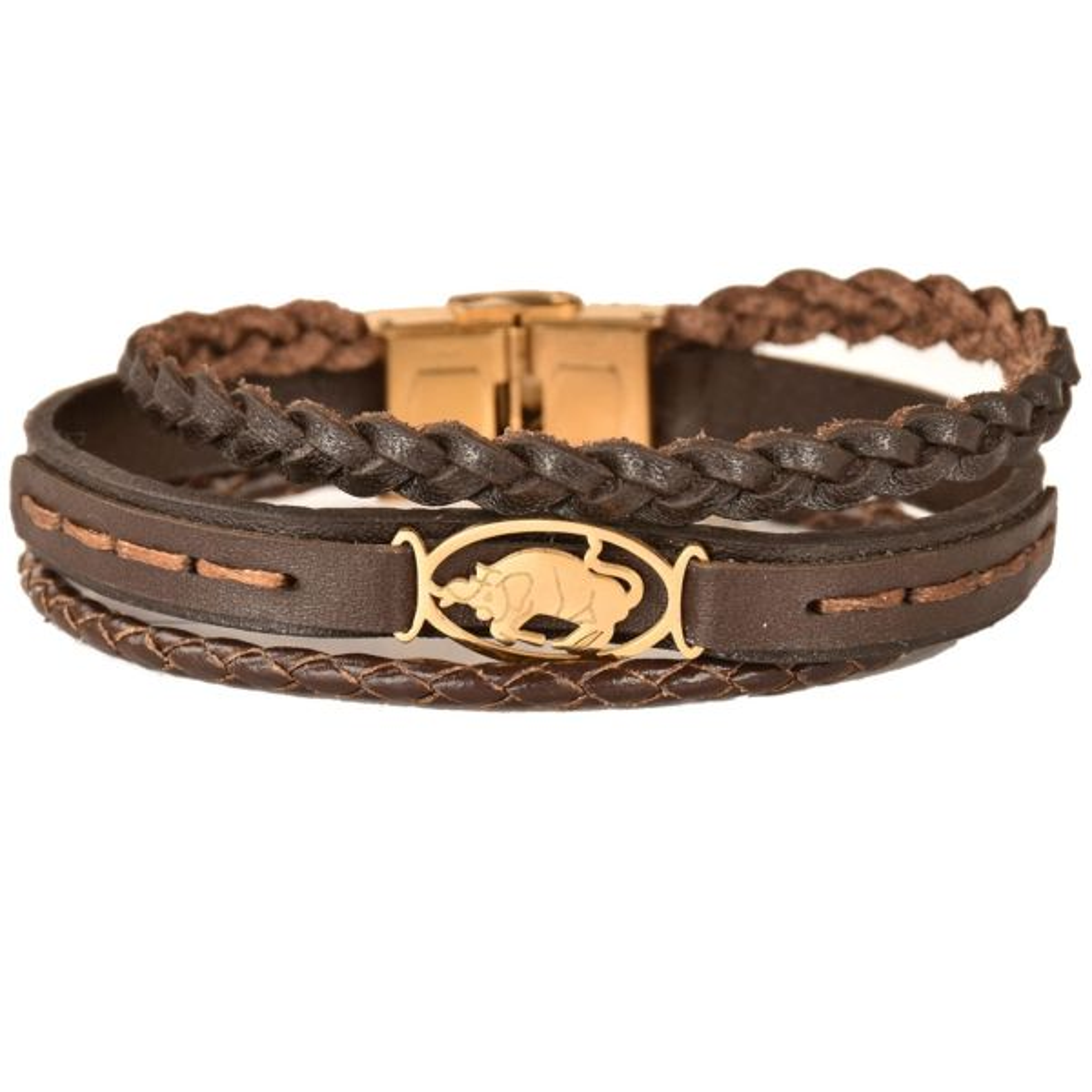 دستبند چرمی کهن چرم طرح تولد اردیبهشت مدل BR170-7