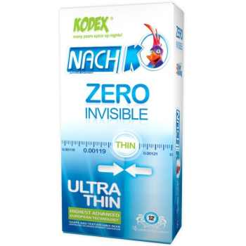 کاندوم ناچ کدکس مدل Zero Invisible  بسته 12 عددی