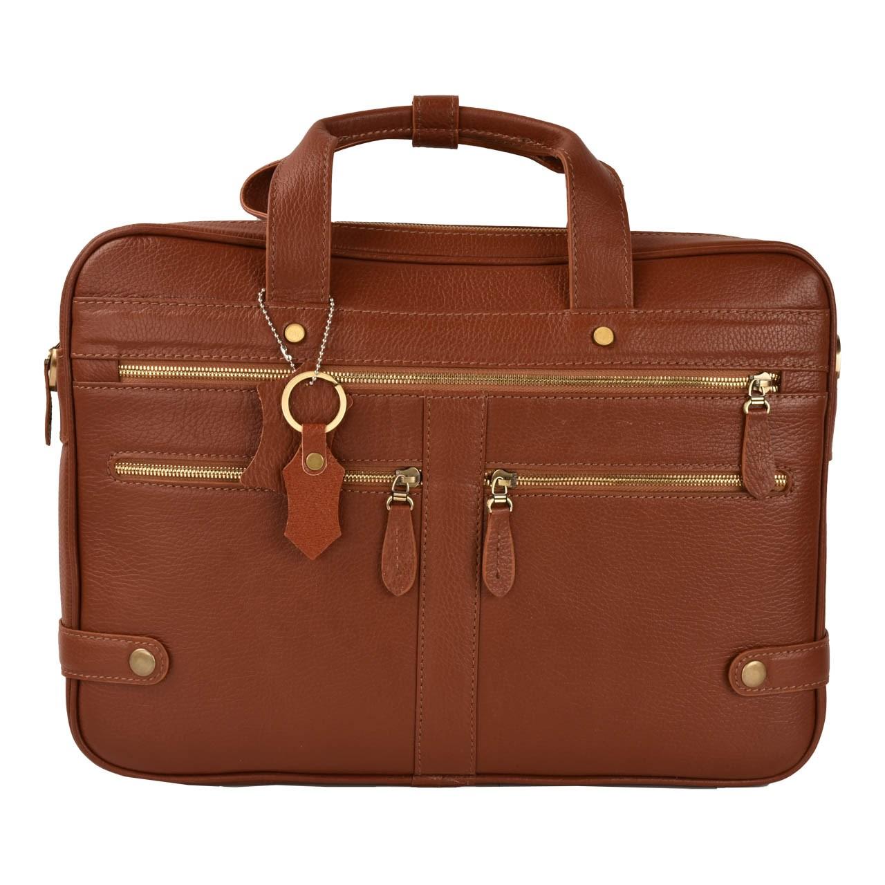 کیف اداری چرم طبیعی کهن چرم مدل1 -L111