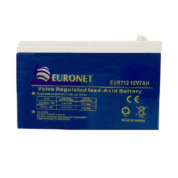 باتری یو پی اس 12 ولت 7 آمپر ساعت یورونت مدل EUR712