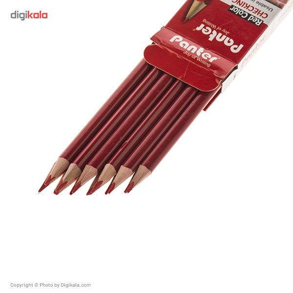 مداد قرمز پنتر مدل Checking Pencil - بسته 12 عددی main 1 2