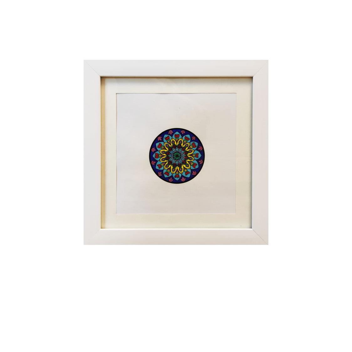 تابلو نقاشی آبرنگ طرح ماندالا کد ۰۰6