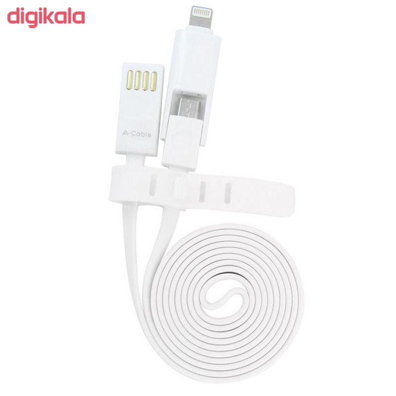 کابل تبدیل USB به لایتنینگ/microUSB آران مدل B10M6 طول 1 متر main 1 5