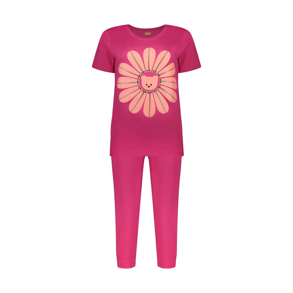 ست تی شرت و شلوارک راحتی زنانه مادر مدل 2041101-66