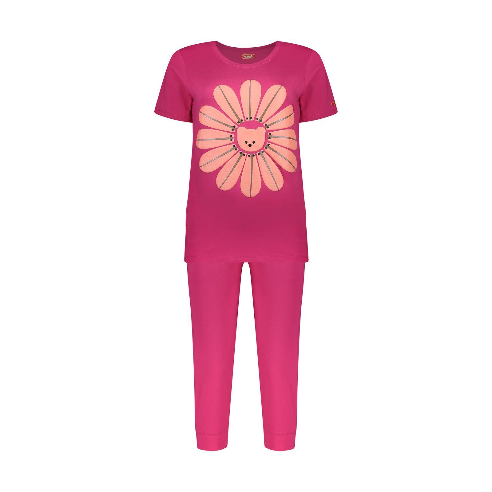 ست تی شرت و شلوارک راحتی زنانه مادر مدل 2041101-66 -  - 2
