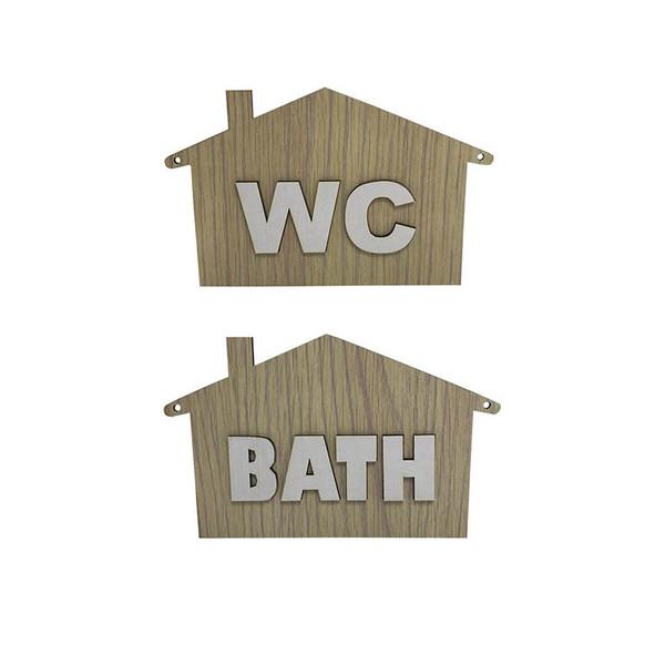 تابلو نشانگر طرح سرویس بهداشتی و حمام مجموعه دو عددی