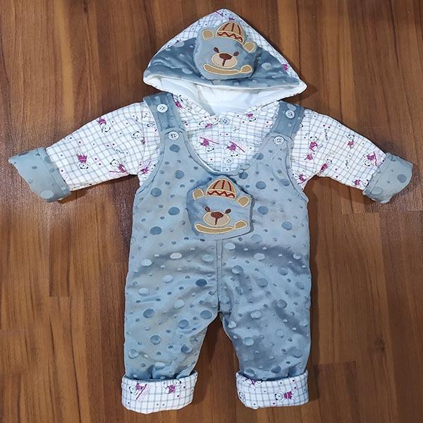 سرهمی نوزادی مدل خرس کوچولو کد Tu10 رنگ فیلی